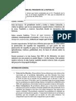 INFORME DEL PRESIDENTE DE LA REPÚBLICA #332