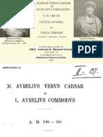 Vasile Pârvan, M. Aurelis Verus Caesar şi L. Aurelius Commodus