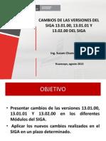 PRESENTACIÓN DIRESA JUNÍN CAMBIO DE VERSIONES