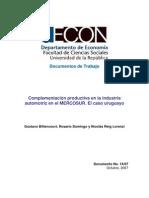 Mercosur Sector Automotriz