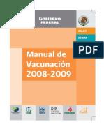 Manual Vacunación México 2008-2009