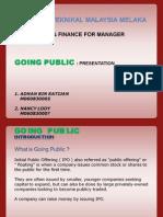 Going Public IPO