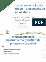 Importancia de las tecnologías en la contribución a la segurida alimentaria