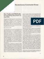 Our Tasks and Methods - Revolutionary Communist No.1 1975
