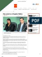 Más control en el Registro Público sept 5 2013