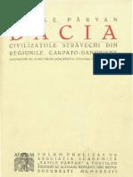 Vasile Pârvan, Dacia - Civilizaţiile străvechi din regiunile carpato-danubiene