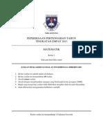 Midyear Exam Mathematics Form 4 Paper 1 2013