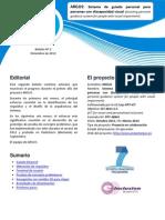 Proyecto ARGUS - Segundo Boletín (en español)