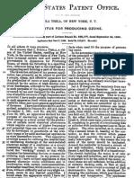NIKOLA TESLA - APPARATUS FOR PRODUCING OZONE - US PATENT No. 568,177