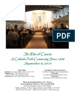 St. Rita Parish Bulletin 9/8/2013