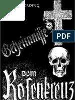 Nording, German - Geheimnisse Vom Rosenkreuz (1939, 42 S., Scan-Text, Fraktur)