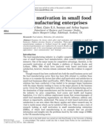 Staff motivation in small food manufacturing enterprises