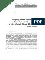 Andrés Guerrero - Curagas y tenientes