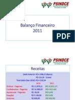 Balanço Financeiro 2011