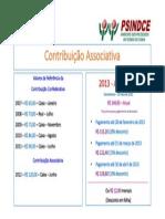 Contribuição Associativa - 2013
