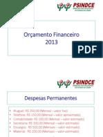 Orçamento Financeiro - 2013