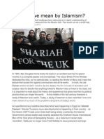 What Do We Mean by Islamism