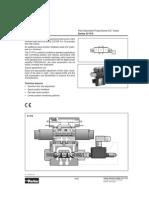 Electrovalvulas Proporcionales Parker - Reemplazo de Valvulas Manuales Flujos y Datos Tecnicos
