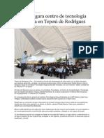09-09-2013 - RMV inaugura centro de tecnología marmolera en Tepexi de Rodríguez
