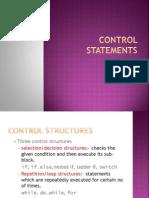 Control Statementss
