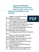 Highway Engineering Multiple Choice Questions and Answers Preparation for Gate Exams