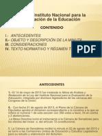 Ley del Instituto Nacional para la Evaluación de la Educación 6-9-2013.pptx