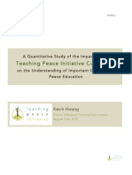 Teaching Peace Initiative Research Report