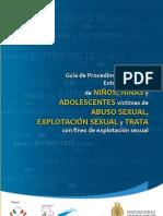 Guía de Procedimiento para la Entrevista Única de Niños, Niñas y Adolescentes víctimas de abuso sexual, explotación sexual y trata con fines de explotación sexual