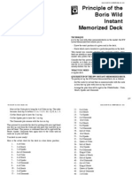 Boris Wild - Principle of the Boris Wild Instant Memorized Deck