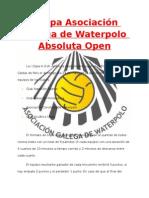 I Copa Asociacion Galega de Waterpolo Absoluta Open