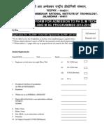 Application Form 2013 NITJ