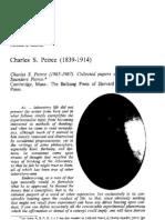 Charles S Peirce (1839-1914)