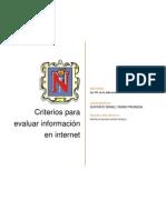 EVALUACIÓN DE FUENTES DE INFORMACIÓN EN INTERNET