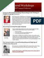 featured workshops flyer