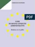 Commission Européenne - Code de bonne conduite administrative