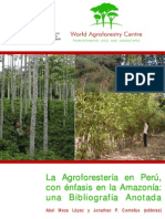 ICRAF, 2006. La Agroforestería en Perú, con énfasis en la Amazonía