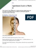 Grandma's Experiences Leave Epigenetic Mark on Your Genes _ DiscoverMagazine