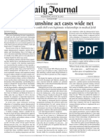 Physician Sunshine Act Casts Wide Net