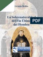 Gerardo Medina - La Sobrenaturalidad del Fin Último del Hombre