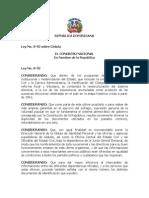 Ley No. 8-92 sobre Cédula