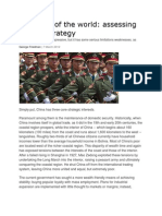 Assessing China's strategy