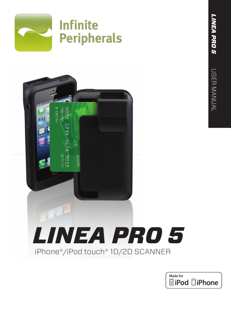 Infinite Peripherals Linea Pro 5 User Guide | Barcode | Image Scanner