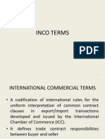 Session 2 - Inco Terms