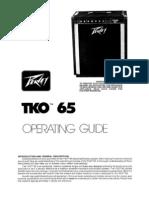 Manual Peavey TKO 65