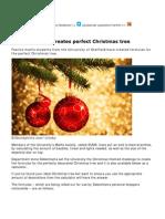 Treegonometry – the formula for the perfect Christmas tree