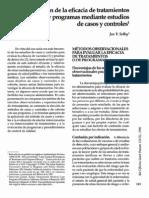Casos y Controles Analisis Evaluacion de La Eficacia de Tratamientos y Programas