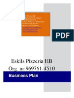 Business Plan Template Pizzeria