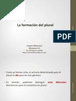 4.2 El plural
