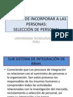 SELECCIÓN DE PERSONAL.- I.