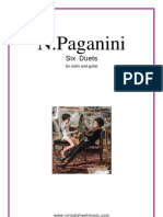 6 Duetos Violin Guitarra PAGANINI
